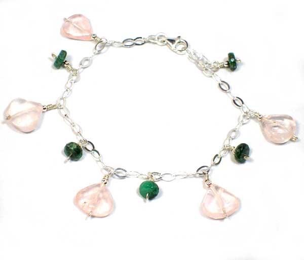 Emerald Rose Bracelet