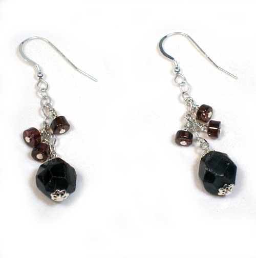 Garnet Garden Earrings