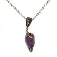Amethyst Swirl Pendant
