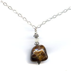 Chocolate Brown Tourmaline Chain Necklace