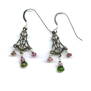 Evening Rose Earrings