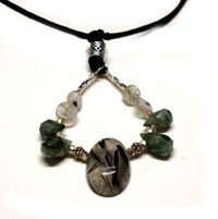 Emerald Drops Mothering Rocks Nursing Necklace