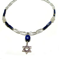 Lapis Star of David Necklace