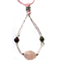 Rose Petal Mothering Rocks Nursing Necklace