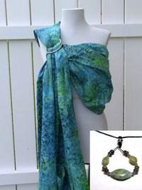 'Skyline' Sling and Mothering Rocks Nursing Necklace Set
